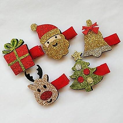 10pcs Navidad mascota bebé perros pelo clips adorables ...
