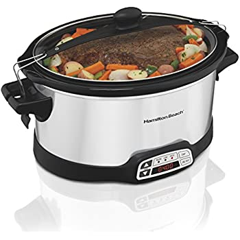 Hamilton Beach Programmable Countdown Slow Cooker Stay Or Go, 6-Quart (33661)