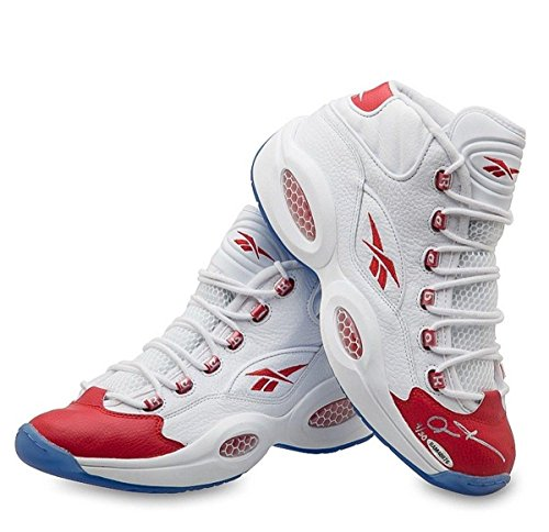 Allen Iverson Signed Autographed Reebok Shoes Red Toe Mid 76ers Sixers /30 – Upper Deck Certified – Autographed NBA Sneakers