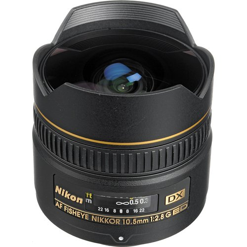 Nikon AF DX NIKKOR 10.5mm f/2.8G ED Fixed Zoom Fisheye Lens with Auto Focus for Nikon DSLR Cameras by Nikon