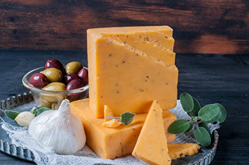 Cheshire Cheese Sage with Garlic Cheddar Cheese Style- Golden Age Wisconsin Cheeses from Harmony Dairy