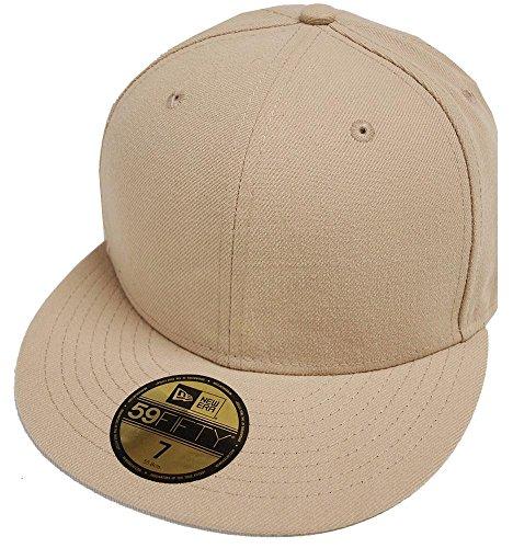 New Era Camel Khaki Blanc Blank 59fifty 5950 Fitted Cap Kappe Men ()
