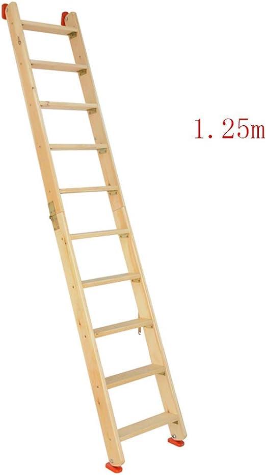 JB-TD Escalera De Madera, Escalera Plegable, Escaleras De Doble ...