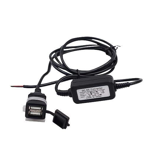 VOSAREA Adaptador de Cargador USB de la Motocicleta con ...