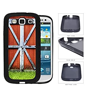 Red Country Barn Doors Rubber Silicone TPU Cell Phone Case Samsung Galaxy S3 SIII I9300