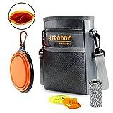 Hero Dog Training Pouch Insert Multi-Bag - Free Poo Bag & Collapsible Travel Bowl & Pet Clicker - Walking Bag 3 Way to Wear(Grey)