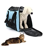 Vvhome 2 in 1 Tote Bag Pet Hand-held Shoulder Bag Comfort Soft Sided Pet Travel Carrier for Dogs and Cats