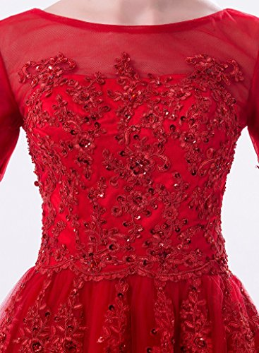 Huifany Königsblau Modern Damen rot Kleid rot 0w0Frvq