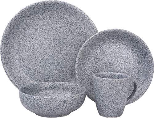 Sango 3598BL800ACM24 Olympus 16-Piece Stoneware Dinnerware Set, Blue