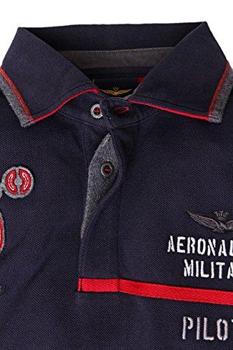Aeronautica Militare Long Sleeve Polo Shirt TITO, Color: Dark blue, : 152