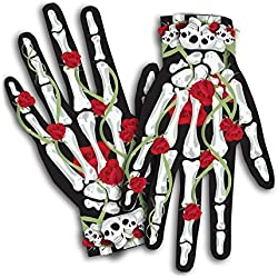 Day of the Dead Skeleton Halloween Costume Bones n' Roses Female Gloves