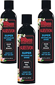 (3 Pack) EQyss Survivor Detangler, 8 Ounces each