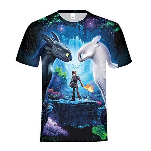 How to Train Your Dragon T Shirt,Night Fury T Shirt,How to Train Your Dragon 3 The Hidden World Kids Tee Shirt Kid Size 7]()