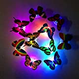 1Pc Professional Popular Butterfly LED Nightlight Romantic Light Color Changing 3D Colorful Random Color and Size