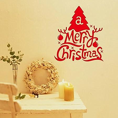 WLWIN Adhesivos de pared de árbol de navidad para el hogar/adornos y campanas decoradas de árbol de navidad adhesivo de pared creativo 19,Regalo,Año nuevo