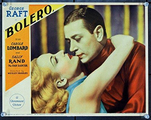 (Bolero (1934) Original Portrait Lobby Card (11x14) GEORGE RAFT CAROLE LOMBARD Very Fine Plus)