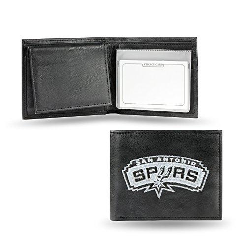 NBA San Antonio Spurs Embroidered Leather Billfold Wallet ()