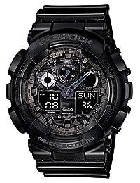 Casio Men's G-Shock GA100CF-1A Black Resin Quartz Watch with Digital Dial