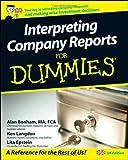 Interpreting Company Reports, Ken Langdon and Alan Bonham, 0470519061
