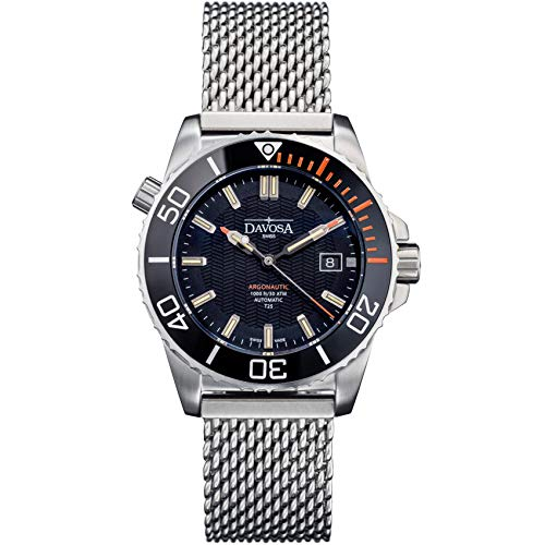 Swiss Made Men Automatic Wrist Watch - Professional Analog Argonautic Lumis with Tritium Luminous (16158060)]()