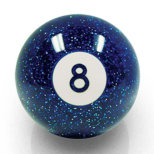 Gear Custom (American Shifter 54086 Blue 8 Ball Shift Knob with Metal Flakes)