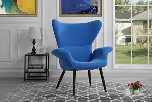 Modern Velvet Accent Chair (Sky Blue) (Chairs Accent Affordable)