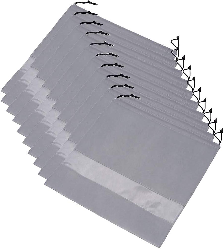 Ibnotuiy 10Pcs Non-Woven Fabric Dustproof Handbag Storage Organizer Drawstring Bag Dust Cover Medium