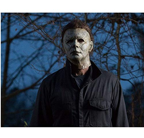 Halloween Michael Myers calmly standing ahead of trees 8 x 10 Inch Photo ()