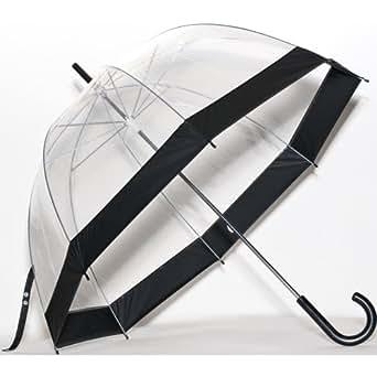 Umbrella Clear Bubble Dome, Rain, Galleria Umbrellas for Kids, Men and Woman (Black Trim, One Size)