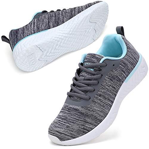 STQ Vrouwen Wandelschoenen Casual Lace Up Schoenen Trainers Running Sneakers