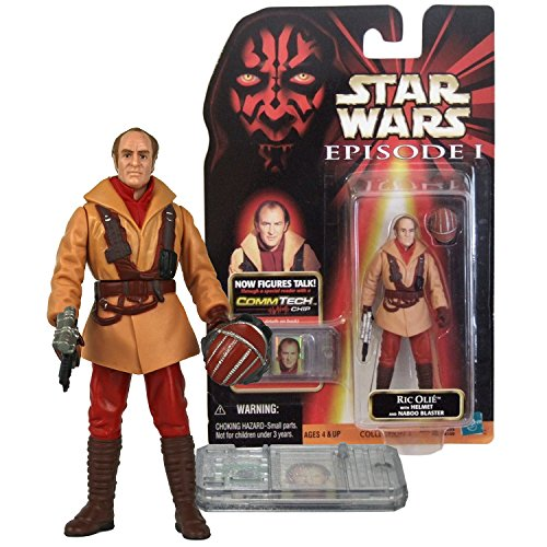 Phantom Menace Star Wars Year 1998 The Series 4 Inch Tall Figure - Pilot RIC OLIE with Helmet, Naboo Blaster Blaster and CommTech ()
