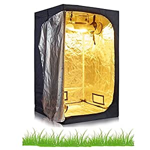"""bloomgrow 32""""X32"""" x63""""36"""" x36""""x 182,88cm 48"""" x24""""x60"""" 96""""x48"""" x80""""600d alta reflectante Mylar crecer tienda cuarto de cultivo hidropónico W/esquinas de plástico y bandeja de suelo impermeable extraíble"""