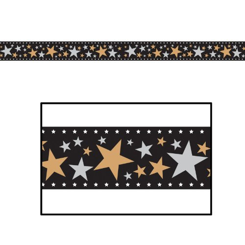 Star Filmstrip Poly Decorating Material Party Accessory (1 count) -