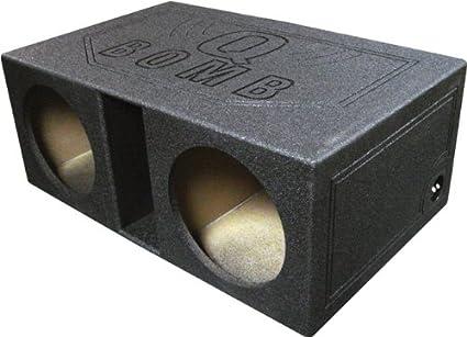 """NEW Qpower Dual 12/"""" Woofer Box /""""Q Bomb/"""" QBOMB12V"""