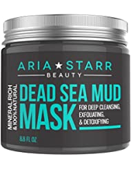Aria Starr Beauty Dead Sea Mud Mask For Face, Acne,...