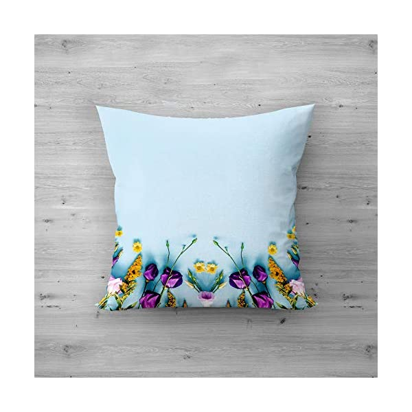 51feBKwRHKL Square Satin Pillow Flower Designs Printed Cushion Cover