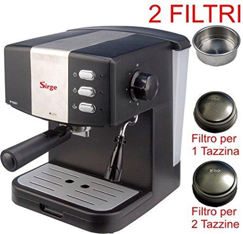 Sirge Cafetera Máquina para café espresso para 1 o 2 tazas ...