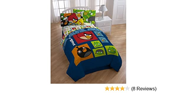Angry Birds Full or Twin Comforter Bedroom Bedding Soft Warm Cozy Bird Cover