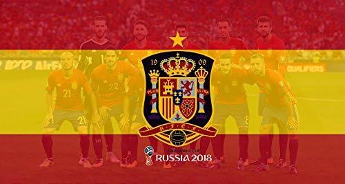 Oedim Bandera de España de Fútbol Mundial 2018 Rusia 150x80cm ...