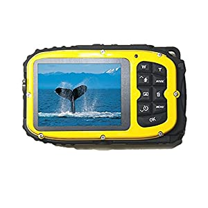 Fitiger Underwater 10m Waterproof Camera 2.7inch LCD 16MP Digital Camera 8x Zoom Compatible with Windows Vista/XP/7 System-Yellow