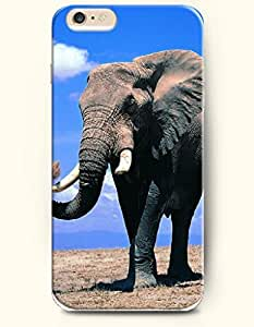 OFFIT iPhone 6 Plus Case 5.5 Inches An Elephant Closing its Eye under the Blue Sky