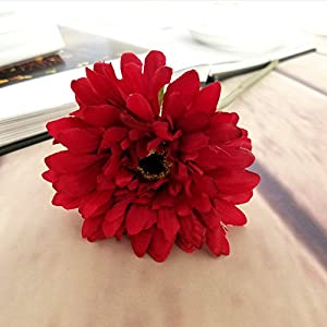 "10 PCS Artificial Silk African Chrysanthemum Plant Flower Bouquet Big Daisy Chrysanthemum Sunflowers Wedding Party Decor Home 12"" 2"