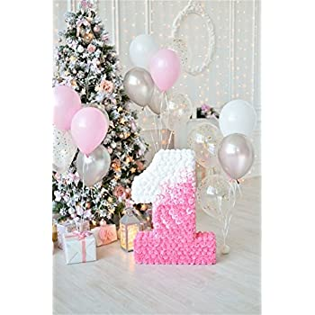 amazoncom ofila baby girl 1st birthday backdrop 3x5ft