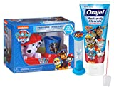 Paw Patrol ''Marshall'' Inspired 5pc Pawsome Smile Gift Set! Includes Toothbrush, Toothpaste, Toothbrush holder, Brushing Timer & Rinse Cup! Plus Bonus Tooth Saver Necklace!