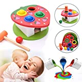 Educational Wooden Hammering Ball with Hammer Box Color Cognitive Toy Best Gifts for Kids - Waymine
