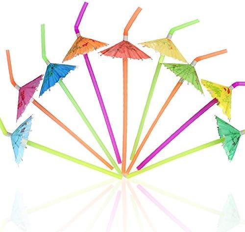 120PCS Umbrella Disposable Drinking Straws product image