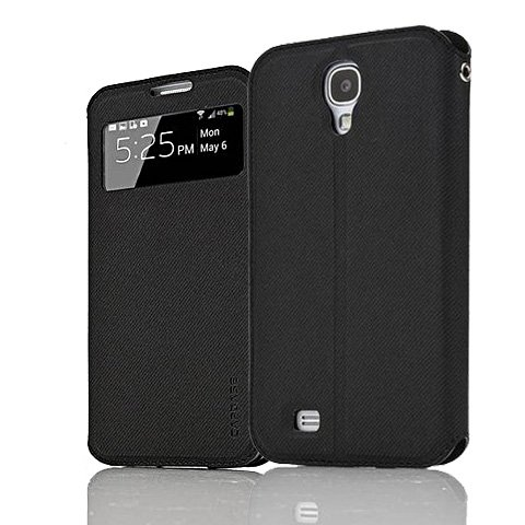 Black/Black Original Capdase Sider Folder Case Cover For Samsung Galaxy S4 I9500 I9505 LTE
