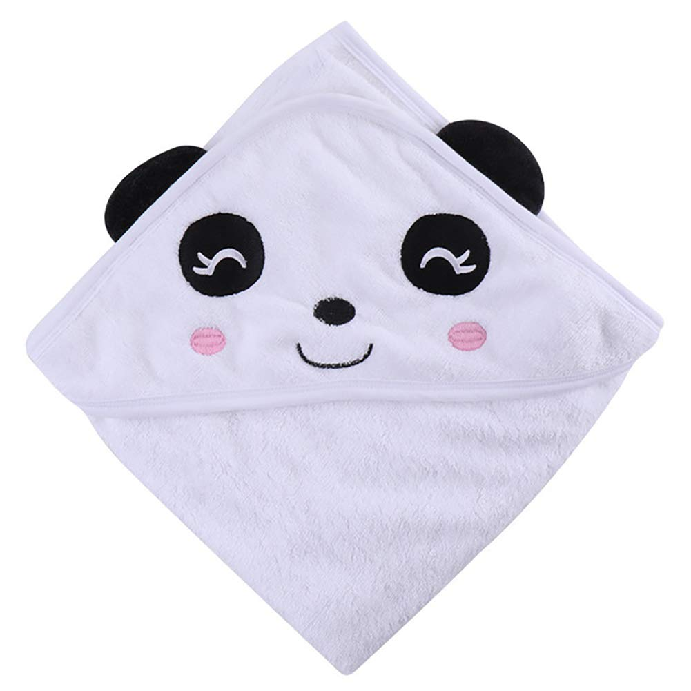 XXRBB Hooded Towel Baby Infant Bamboo Fiber Poncho Cartoon Cloak,Super Absorbent Soft,85x85cm(33x33inch),5 by XXRBB