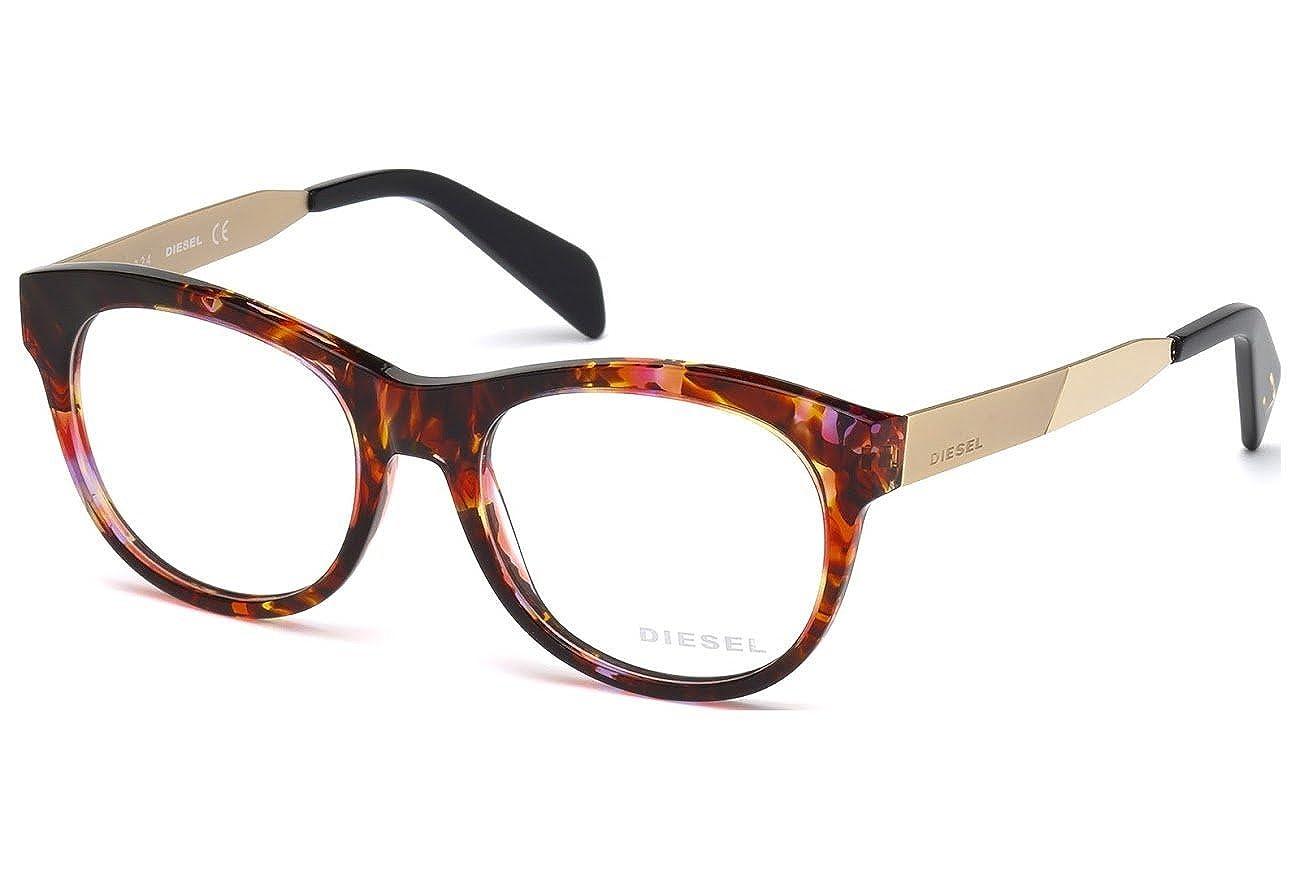 Diesel Rx Eyeglasses Frames DL5136 054 52-18-140 Bordeaux Havana DL-5136-V 054