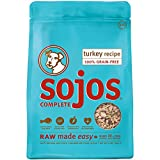 Sojos Complete Natural Grain Free Dry Raw Freeze Dried Dog Food Mix, Turkey, 2-Pound Bag